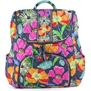 Vera Bradley | Double Zip Backpack in Jazzy Blooms